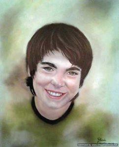 Retrato a pastel de Alejandro
