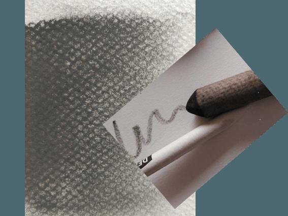 imagen de difumino con papel de carboncillo