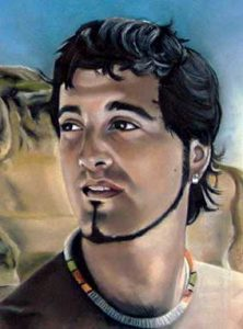 Retrato a pastel de Jordi