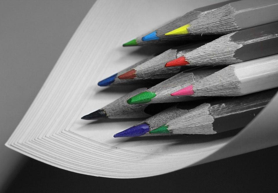 lapices con puntas de colores