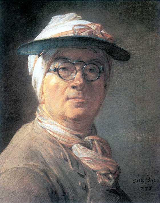 Autorretrato a pastel de Chardin