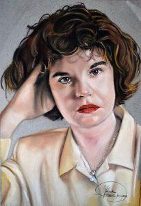 Retrato a pastel de mujer 1