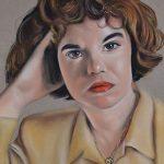 Retrato a pastel de mujer 2