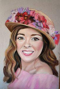 Ana María, Retrato a pastel