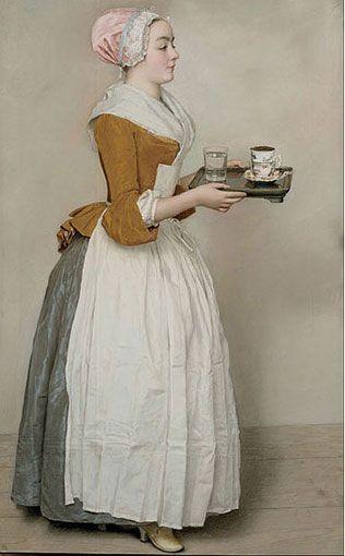 retrato de la Bella chocolatera de Liotard para web pintoturetrato.com
