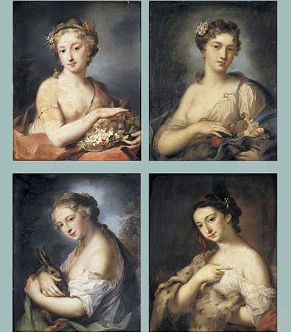 Retratos a pastel de Rosalba Carriera