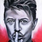 Retrato a carboncillo de David Bowie