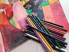 Pinturas prismacolor y trabajos pintoturetrato