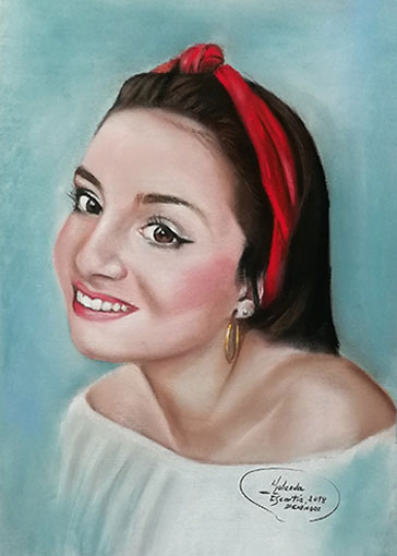 Retrato en pastel