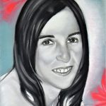 Encargo de retrato de mujer pintado a carboncillo