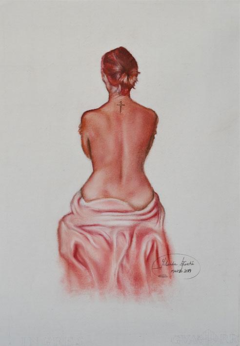 Desnudo pintado a sanguina