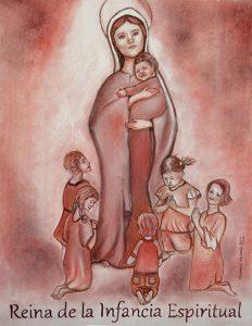 Réplica Virgen Reina de la Infancia Espiritual a sanguina