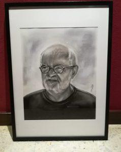 Retrato a carboncillo José María Escalona