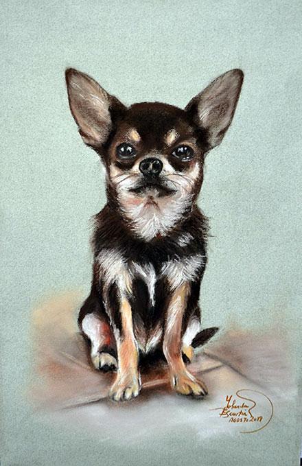 Retrato a pastel de mascota