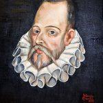 Réplica del retrato de Cervantes