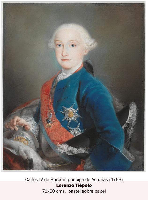 Infante don Carlos IV retrato a pastel