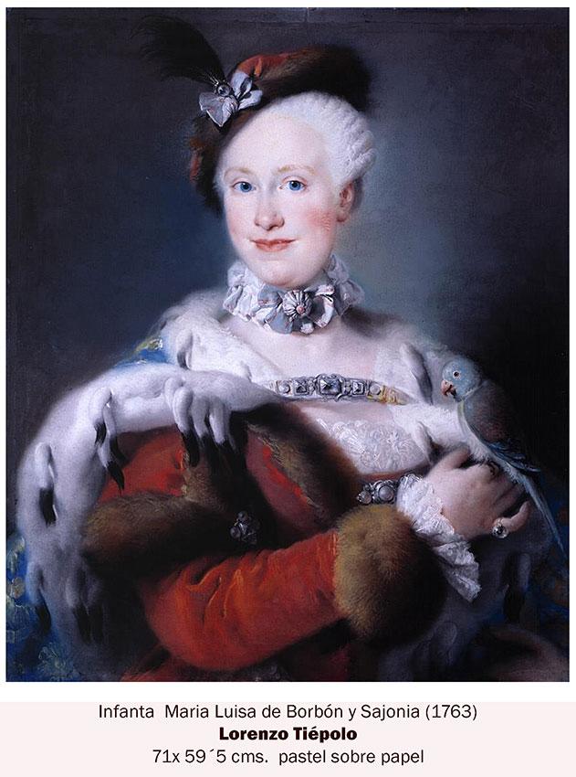 Maria Luisa de Borbón y Sajonia retrato a pastel
