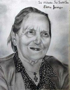 Encargo de retrato pintado a carboncillo