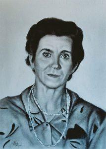 Encargo de un retrato pintado a carboncillo y lápiz