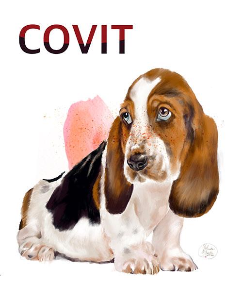 Retrato digital ilustrado de mascota