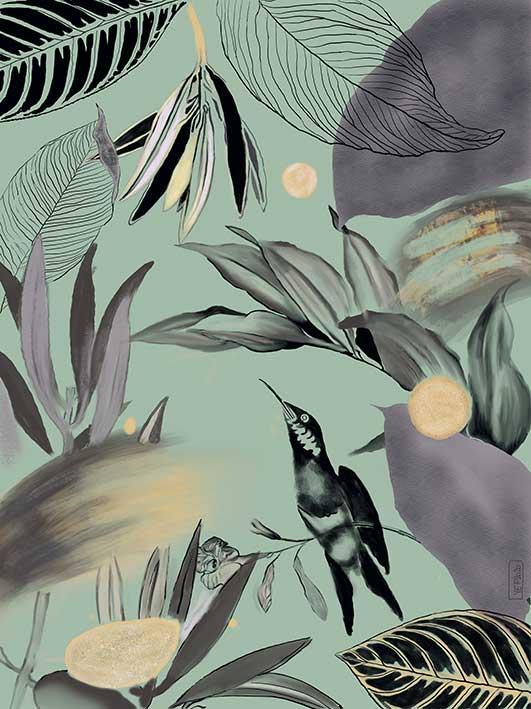 Fondo digital abstracto ilustrado con cambio de color