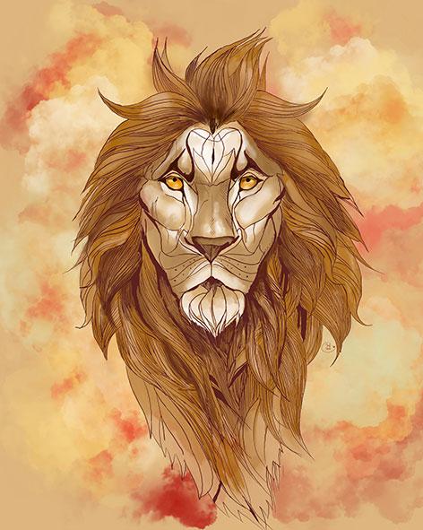 León digital ilustrado beig